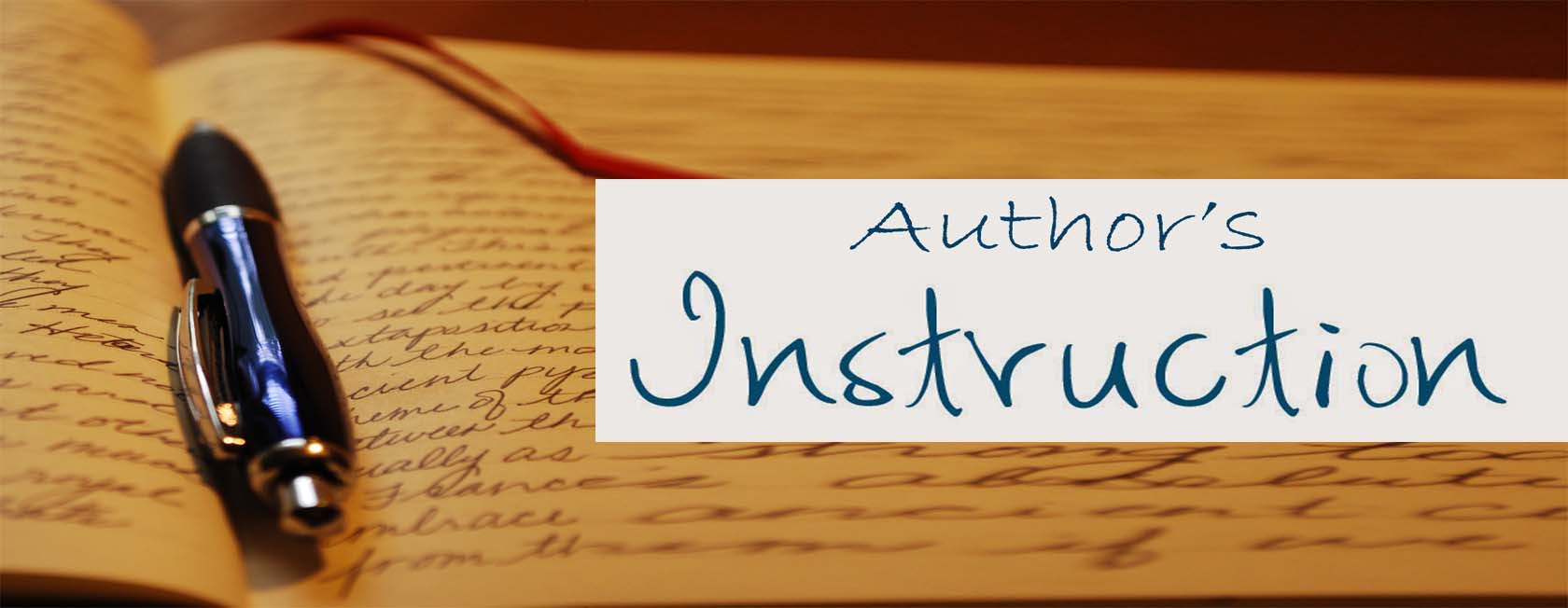 Author's Instruction